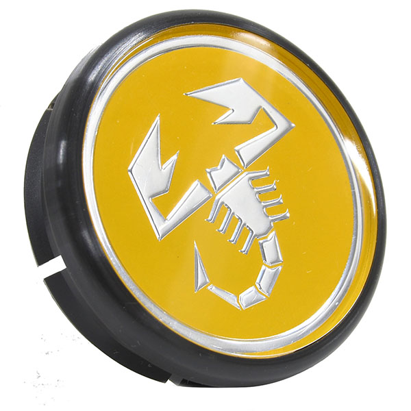 ABARTH Wheel Hub Cap (Yellow/diamm 48mm)
