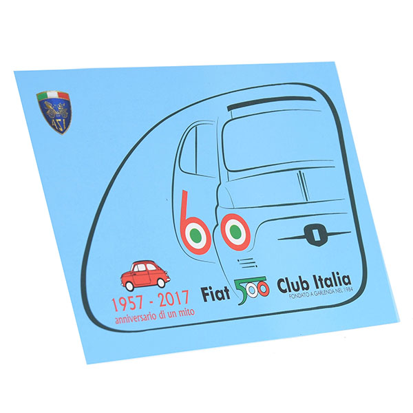 FIAT 500 CLUB ITALIA Official Nuova 500 60anni Memorial Post Card