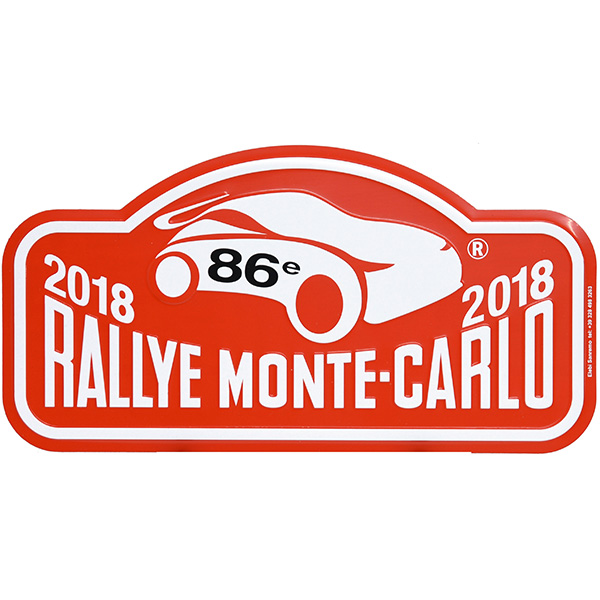 Rally Monte Carlo 2018 Official Metal Plate(Large)