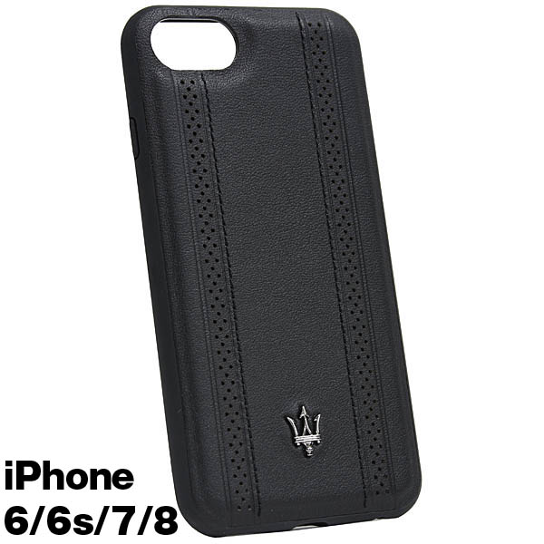 MASERATI純正 iPhone 6/6s/7/8レザー背面ケース-GRANLUSSO/ブラック<br><font size=-1 color=red>11/26到着</font>