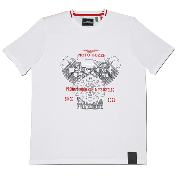 Moto Gucci Official T-Shirts-CLASSIC/White-