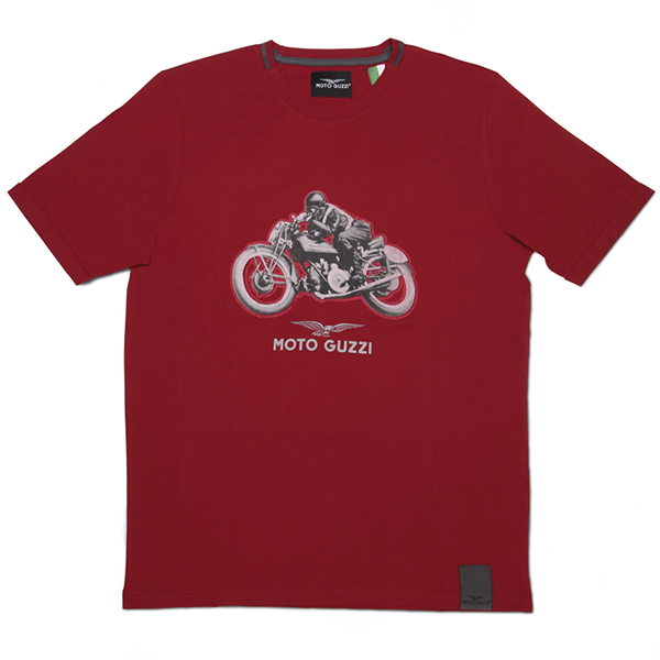 Moto Guzzi Official T-Shirts-CLASSIC-(Red)