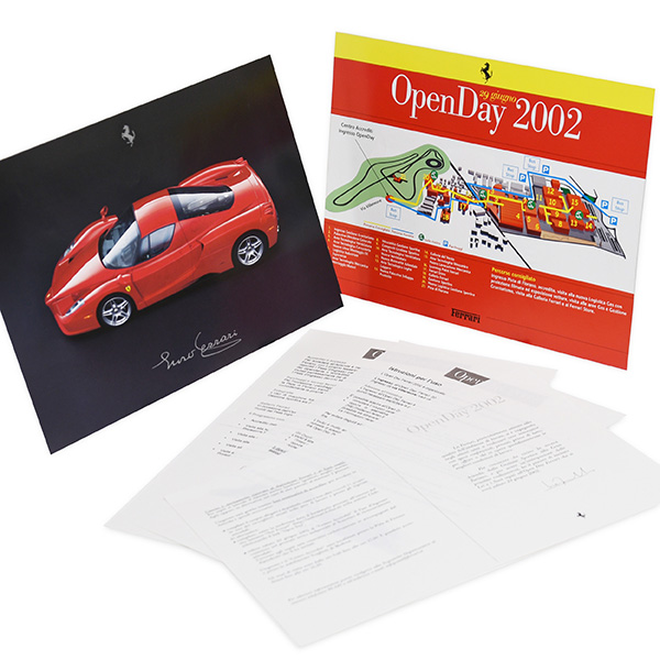 Ferrari Open Day2002 Map&Leaflet Set