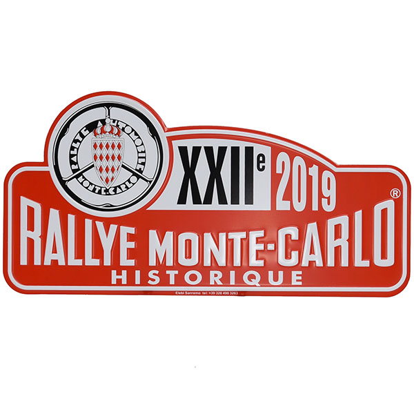 Rally Monte Carlo Historique2019 Official Metal Plate(Large)