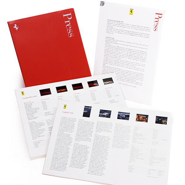 Ferrari 1998 Geneva Press Kit