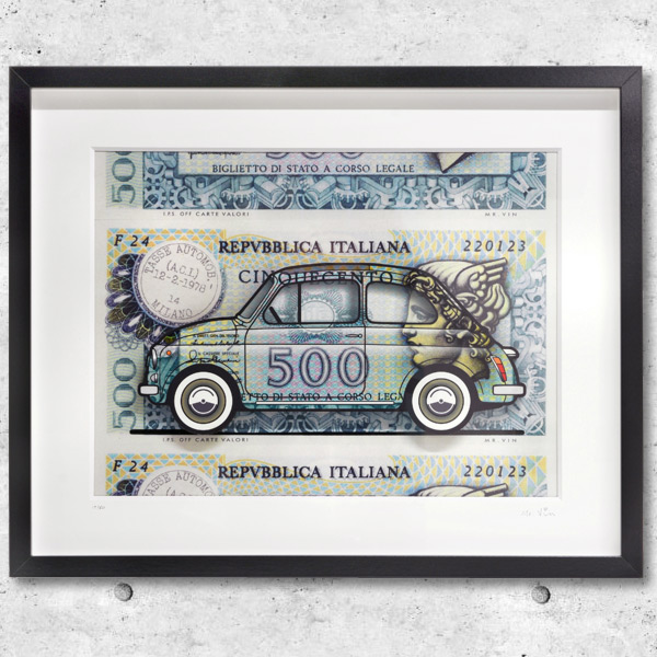 FIAT Nuova 500イラストレーションby Mr.Vin -500 LIRE- (Large)