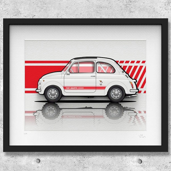 FIAT Nuova 500イラストレーションby Mr.Vin -ABARTH- (Large)