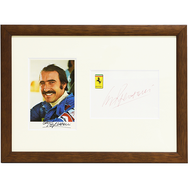 Scuderia Ferrari C.Regazzoni Signed Card Set