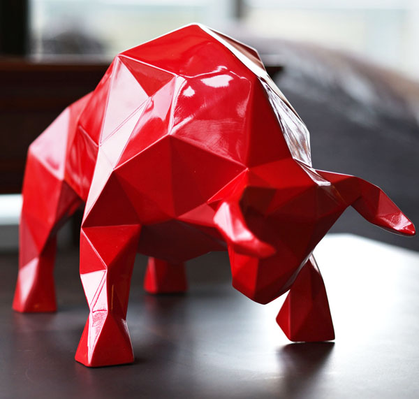FIGHTING BULL Polygon Mesh Object