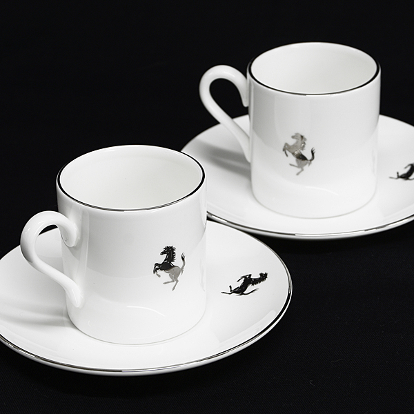 Ferrari Official Espresso Cup & Saucer Set by WEDGEWOOD