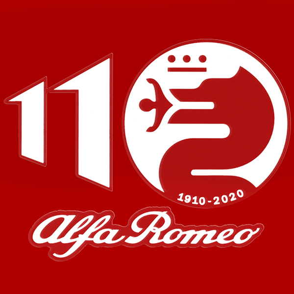 Alfa Romeo110周年記念ロゴステッカー(ホワイト)<br><font size=-1 color=red>07/13到着</font>