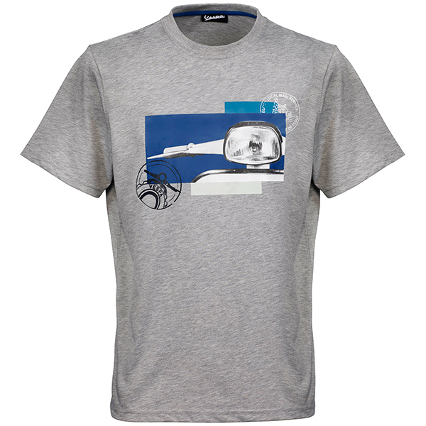Vespa Official T-Shirts-Heritage-(Gray)