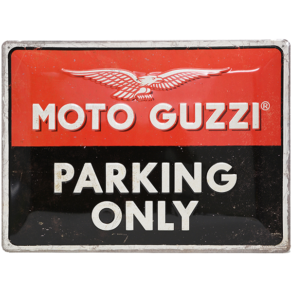 Moto Guzzi Official Sign Boad-PARKING ONLY-