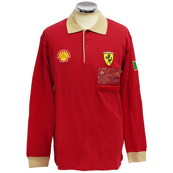 Ferrari  Factory Working Polo Shirts (Long Sleeves)