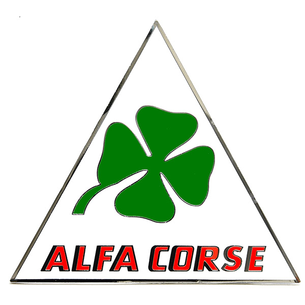Alfa Romeo(Alfa Corse)三角プレートエンブレム<br><font size=-1 color=red>10/03到着</font>