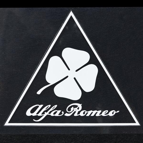 alfa romeo logo black and white. alfa romeo quadrifoglio stickerclear base logo black and white