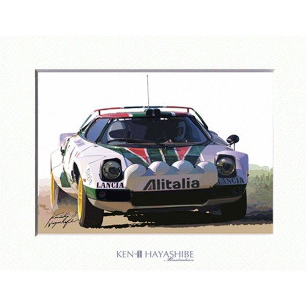 LANCIA Stratos ALITALIA イラストレーション by 林部研一<br><font size=-1 color=red>07/14到着</font>