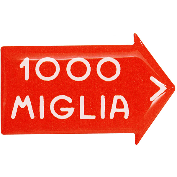 1000 MIGLIA 純正3Dステッカー<br><font size=-1 color=red>11/19到着</font>