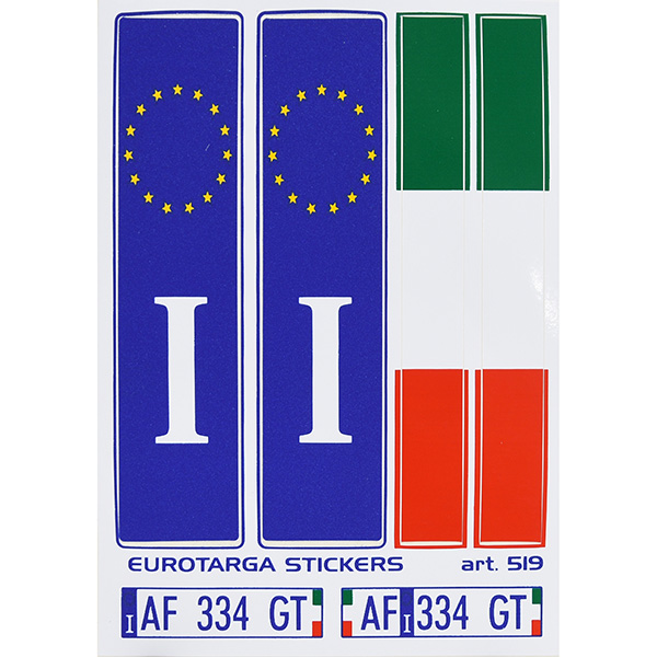 EU&amp;イタリア国旗ステッカーセット<br><font size=-1 color=red>11/19到着</font>