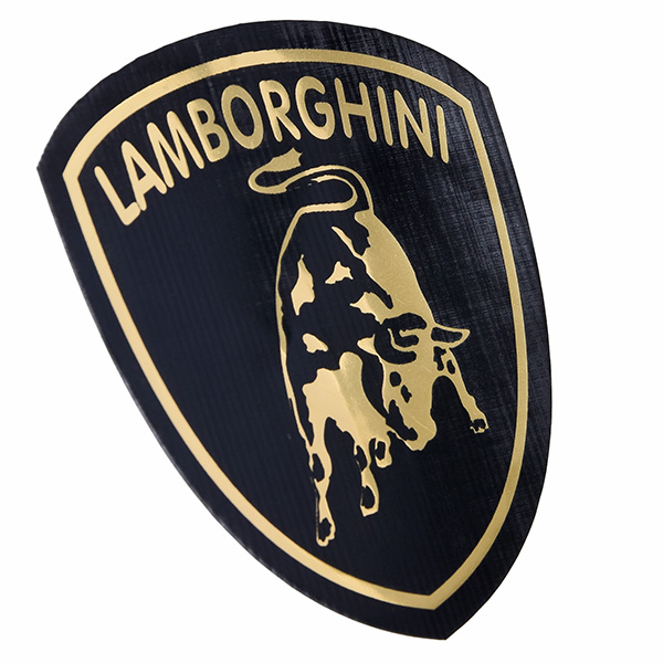 Lamborghini Emblem Sticker Black Small Italian Auto Parts Gagets