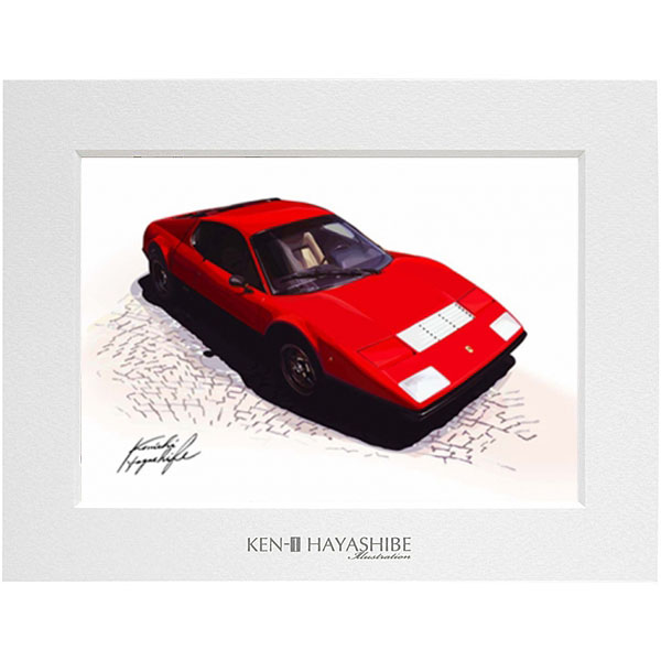 Ferrari 365BB イラストレーション by 林部研一<br><font size=-1 color=red>07/14到着</font>