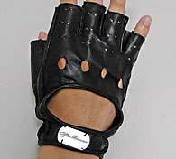 Alfa Romeo Leather Driving Gloves HalfBlack Italian Auto Parts - Alfa romeo driving gloves