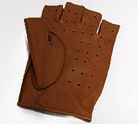 Alfa Romeo Leather Driving Gloves HalfBrown Italian Auto Parts - Alfa romeo driving gloves